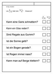 Leseübungsblatt zur Fibel 'Mimi die Lesemaus' Bayern - ab Gg einsetzbar - einfaches ja-nein-Blatt