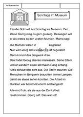 Leseübungsblatt zur Fibel 'Mimi die Lesemaus' Bayern - ab Gg einsetzbar - Museums-Geschichte - umfangreich