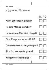 Leseübungsblatt zur Fibel 'Mimi die Lesemaus' Bayern -ab ng einsetzbar - Ja-nein-Blatt