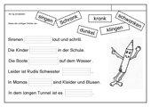 Leseübungsblatt zur Fibel 'Mimi die Lesemaus' Bayern -ab ng einsetzbar -  Lückensätze