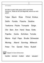 Leseübungsblatt zur Fibel 'Mimi die Lesemaus' Bayern - ab Pp einsetzbar - Nicht passendes Wort heraussuchen