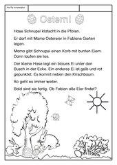 Leseübungsblatt zur Fibel 'Mimi die Lesemaus' Bayern - ab Pp einsetzbar