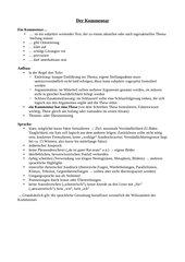 Kommentar, Tafelbild/Arbeitsblatt