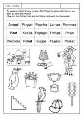 Leseübungsblatt zur Fibel 'Mimi die Lesemaus' Bayern - ab Pp einsetzbar - Wörter lesen-Bilder suchen