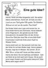 Leseübungsblatt zur Fibel 'Mimi die Lesemaus'Bayern - Ab Hh einsetzbar