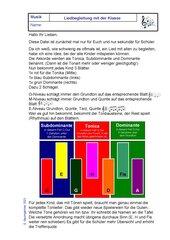 Liedbegleitung für die ganze Klasse mit Tonika, Subdominante und Dominante