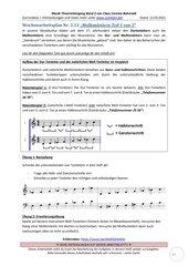 Natürliche Molltonleiter (Aufbau) 2.12 Arbeitsblatt+Lösung+Erklärvideo+interaktive Übungen