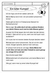 Leseübungsblatt zur Fibel 'Mimi die Lesemaus' Bayern - Ab Ch ch einsetzbar - Eine längere Geschichte erlesen