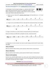 Natürliche Molltonleiter schreiben 2.13 Arbeitsblatt+Lösung+Erklärvideo+interaktive Übungen