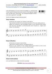 Natürliche Molltonleiter schreiben und bestimmen 2.14 Arbeitsblatt+Lösung+Erklärvideo+interaktive Übungen