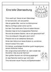 Geburtstagsgeschichte für die 1./2. Klasse
