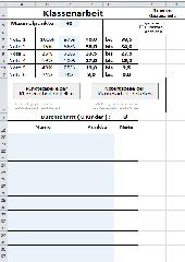 Exceldatei: Noten- und Punkte-Tabellen