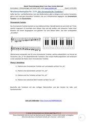 Chromatische Tonleiter 2.19 Arbeitsblatt+Lösung+Erklärvideo+interaktive Übungen