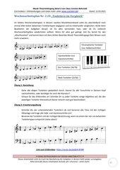 Tonleitern im Vergleich 2.20 Arbeitsblatt+Lösung+Erklärvideo+interaktive Übungen