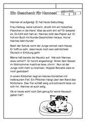 Ein Geschenk für Hannes - Eine Geschichte mit vielen Hh