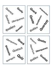 Dobble mit Qu Wörtern
