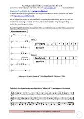 Rhythmustraining – einfach und systematisch - Band 2 Folge 05: Arbeitsblatt + Lösung + Youtubevideo
