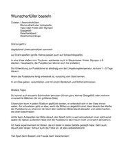 Wunscherfüller -  Basteln mit Pusteblumen - Geschenk
