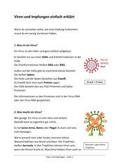 Viren und Impfungen - einfach erklärt
