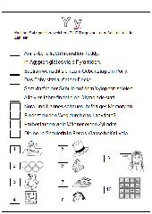 Wörter mit Yy - Zuordnung Satz-Bild