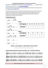 Rhythmustraining – einfach und systematisch - Band 2 Folge 08: Arbeitsblatt + Lösung + Youtubevideo