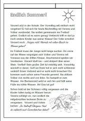 Endlich Sommer! - Geschichte mit vielen Vv-Wörtern