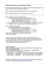 Mathematik: Taschenrechner: Rechnen mit Grad DEG Degreees
