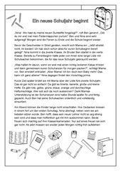 Schüler zum ausdrucken kurzgeschichten für Kinder und