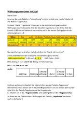 Währungsumrechner in Excel