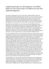 Beispiel einer vergleichenden Gedichtanalyse Der Wegweiser/Road not taken