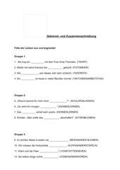 Arbeitsblatt zur Getrennt- und Zusammenschreibung