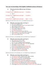 If-clauses: alle drei Typen (Selbsttest für SchülerInnen)