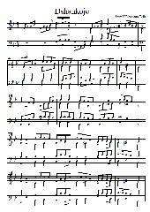 Dschankoje - jiddische Melodie vierstimmig gesetzt