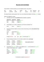 Infoblätter und Übungen zu Adverb und Steigerung Adjektiv