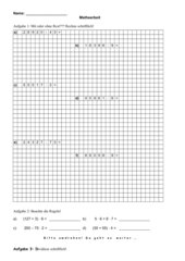 Mathearbeit Klasse 4