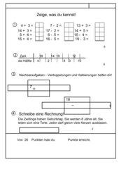 Lernzielkontrolle Mathematik 1. Klasse