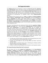 Gegenreformation - Text mit Fragen