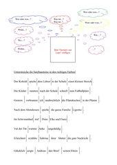 Satzglieder unterstreichen/ bestimmen