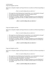Fragen und Aufgaben zum Film 4601047 - Sexualerziehung