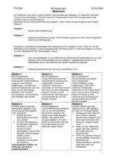 Stationslernen Schwingungen,Physik 12. Klasse