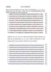 Konzentrationsübung Buchstabenmix