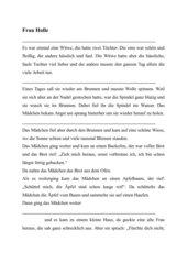 Märchentexte kindgerecht
