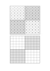 Kopiervorlage Hundertertafel
