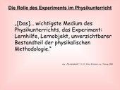 die rolle der experimente in der physik