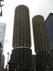 Marina City in Chicago - Gebäude, Bauwerk, Wolkenkratzer, Architektur, Chicago