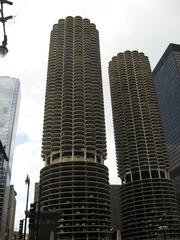 Marina City in Chicago - Gebäude, Bauwerk, Wolkenkratzer, Architektur, Chicago