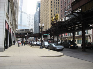Elevated Train , Hochbahn in Chicago - Straßenbahn, Hochbahn, Beförderung, Chicago, Nahverkehrsmittel