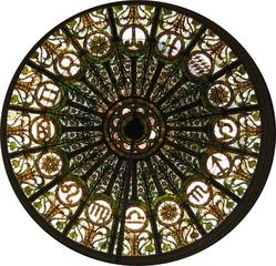 Tierkreiszeichen , Sternzeichen - Tierkreiszeichen, Sternzeichen, Glaskunst, Tiffany