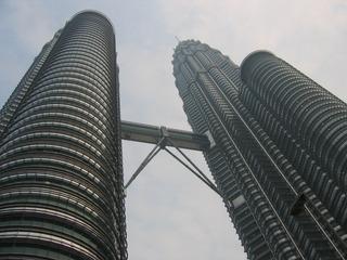 Petronas Towers1_Kuala Lumpur_Malaysia - Asien, Malaysia, Kuala Lumpur, Architektur, Gebäude, Petronas Tower, Skybrigde, Brücken