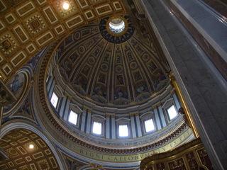 Kuppel des Petersdomes in Rom - Dom, Kuppel, Petersdom, Vatikan, Papst, Akustik, Kunst, Glaube, Rom